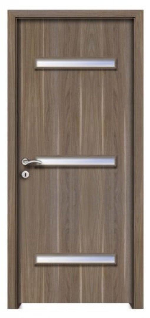 Milétosz 3. CPL üveges beltéri ajtó amerikai dió