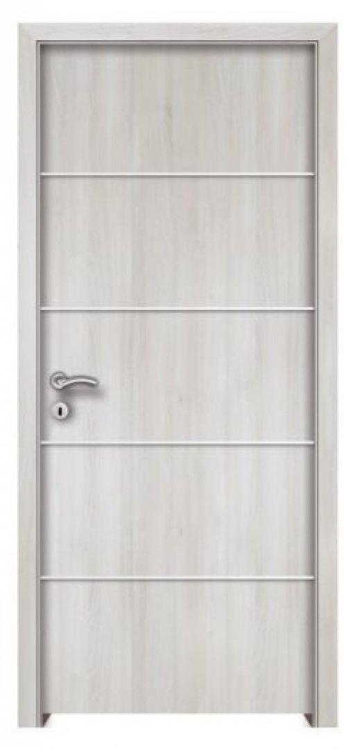 Gordion 4. CPL fémintarziás beltéri ajtó fehér akác 250x522