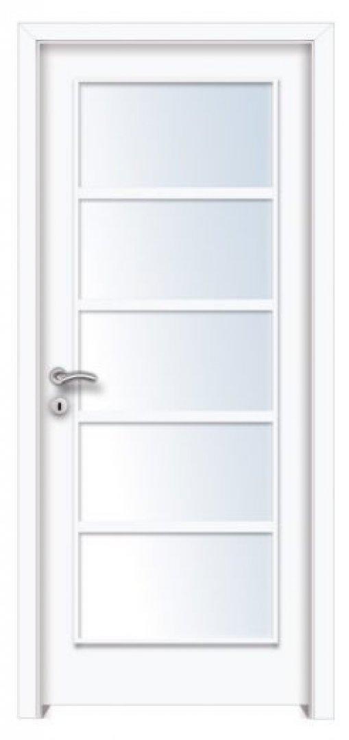 Mekka 5. CPL üveges beltéri ajtó fehér