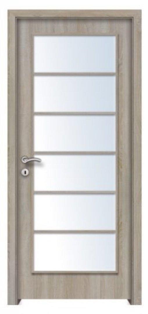 Mekka 6.. CPL üveges beltéri ajtó északi tölgy