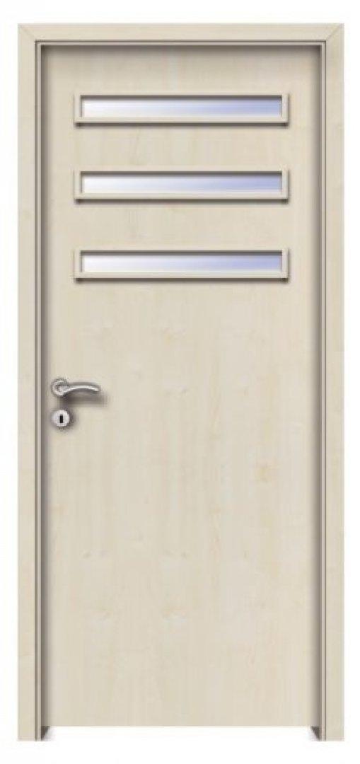 Delhi 3. CPL üveges beltéri ajtó Juhar 250x522