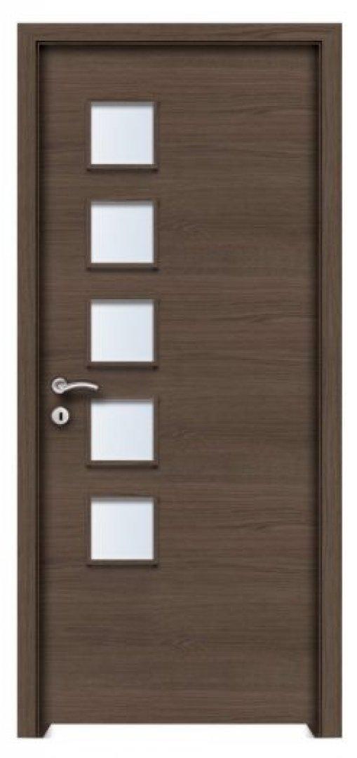 Prága  CPL üveges beltéri ajtó antracit tölgy