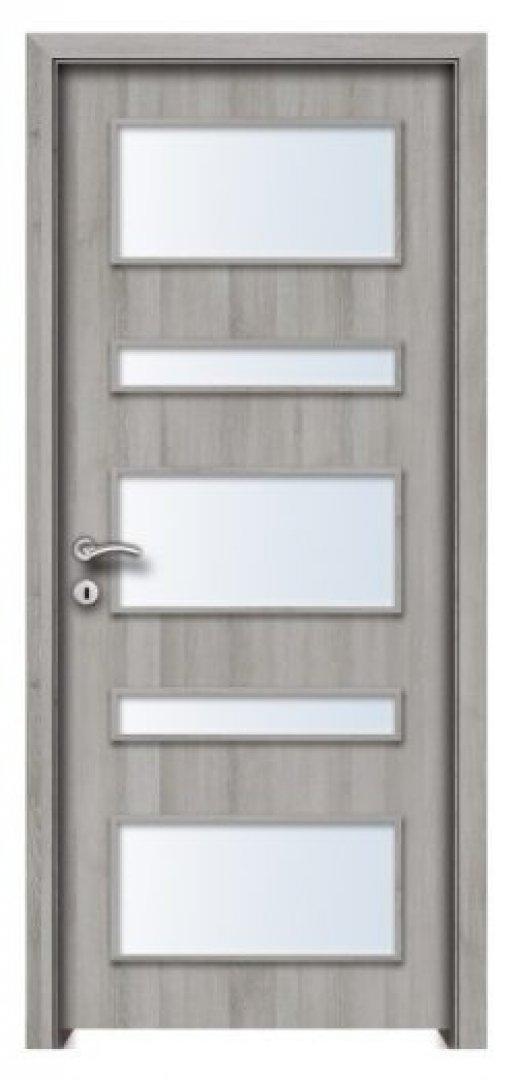 Jáva CPL üveges beltéri ajtó silver tölgy