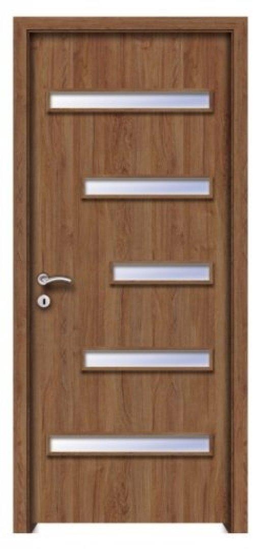 Kána CPL üveges beltéri ajtó jakarta teak 250x522
