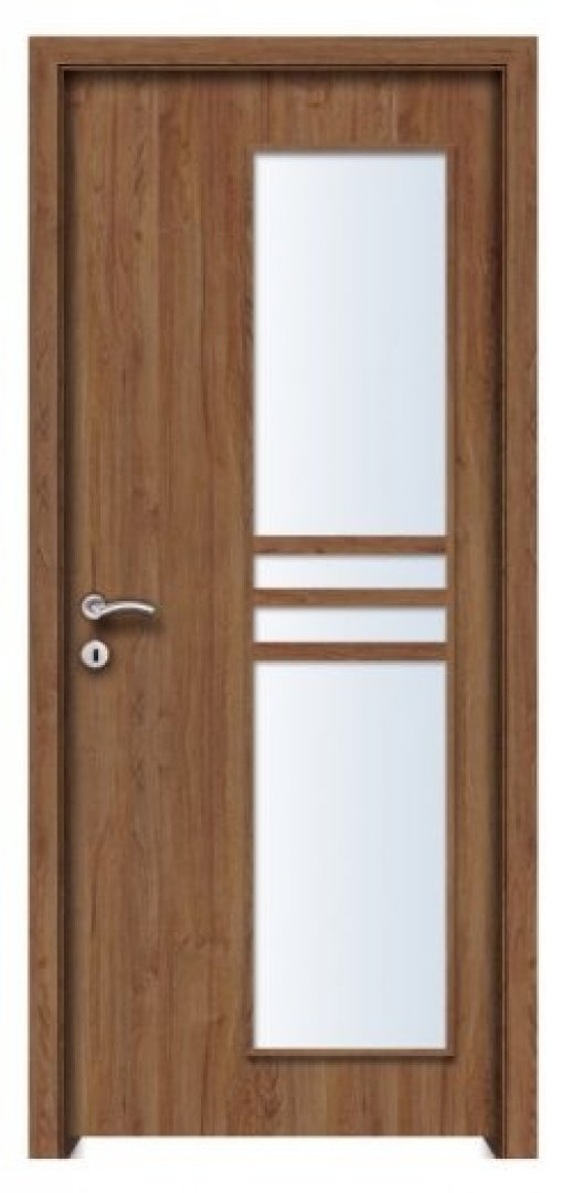 Torino 3 CPL üveges beltéri ajtó jakarta teak 250x522