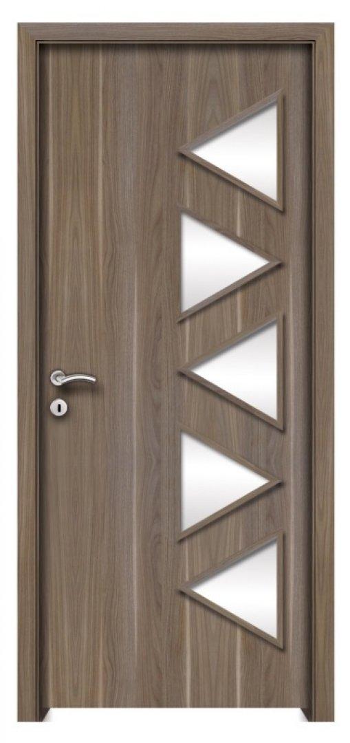 Ithaka CPL üveges beltéri ajtó amerikai dió