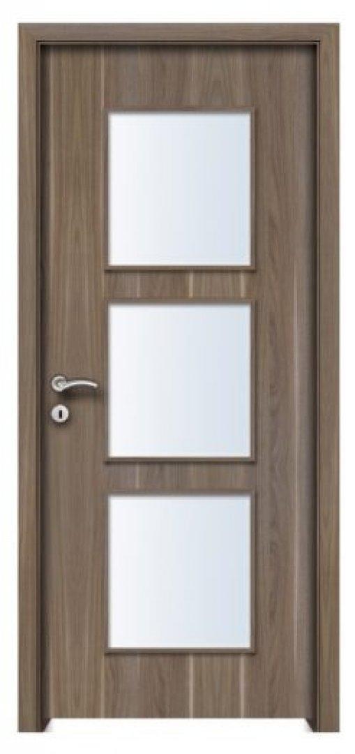 Ararat CPL üveges beltéri ajtó amerikai dió 250x522