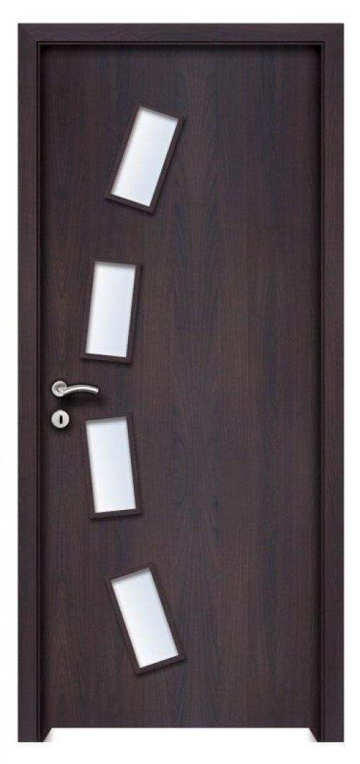 Pella  CPL üveges beltéri ajtó csoki bükk